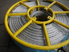 Anti Twisting Galvanized Steel Wire Rope 18mm for pulling two conductors