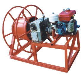 Motorised Cable Take-Up Winch Machine