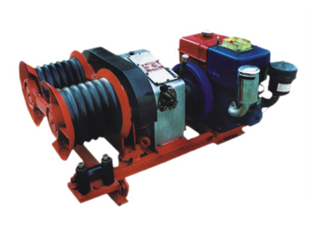 Transmission Line Motorised Pulling Winch 3 ton with double capastans