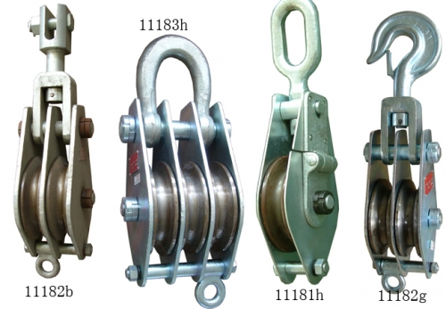 Tower Erection Tools Steel Tackle Blocks Lifting Pulleys