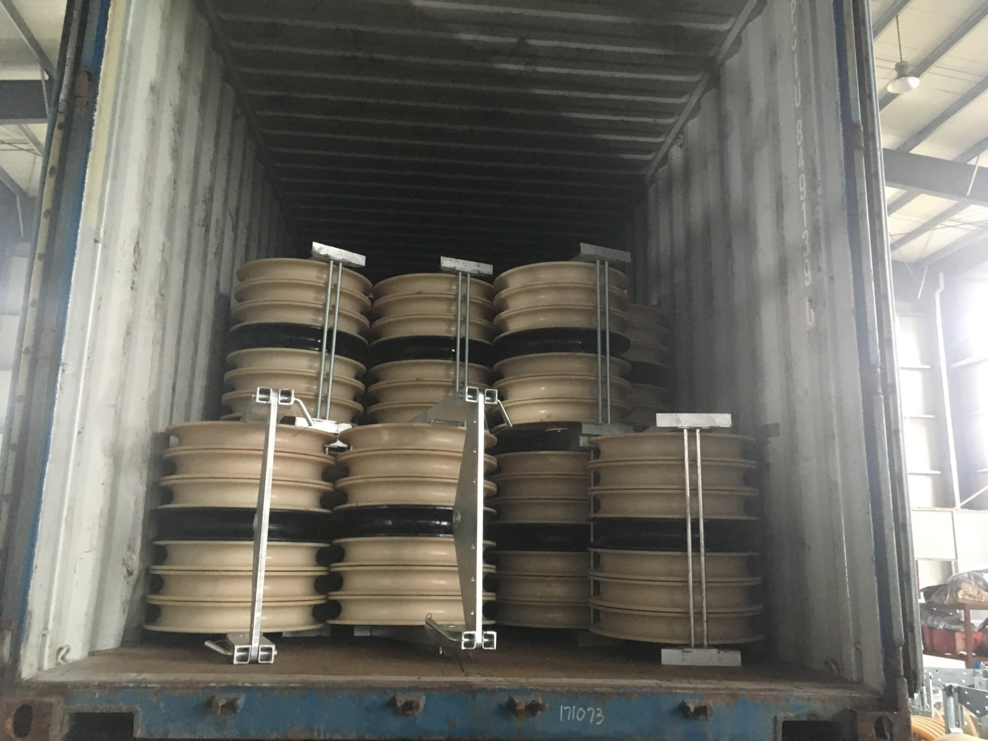 Conductor Pulleys Blocks exported for stringing overhead transmission lines