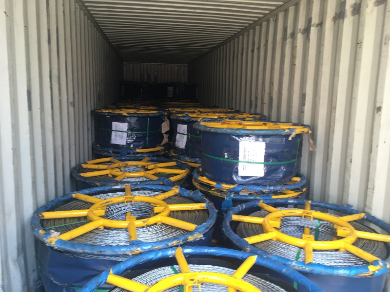 Anti twisting braided steel wire rope exported for stringing overhead transmission line